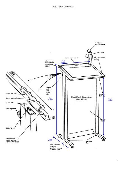 Lectern Dimensions